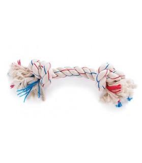 jouets noeuds pour chien jouet chien corde tricolore 2 nœuds Martin Sellier 8,00€