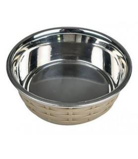 Gamelles pour chien ou chiot Gamelle Inox style osier antidérapante pour chien CHADOG DIFFUSION 9,00€