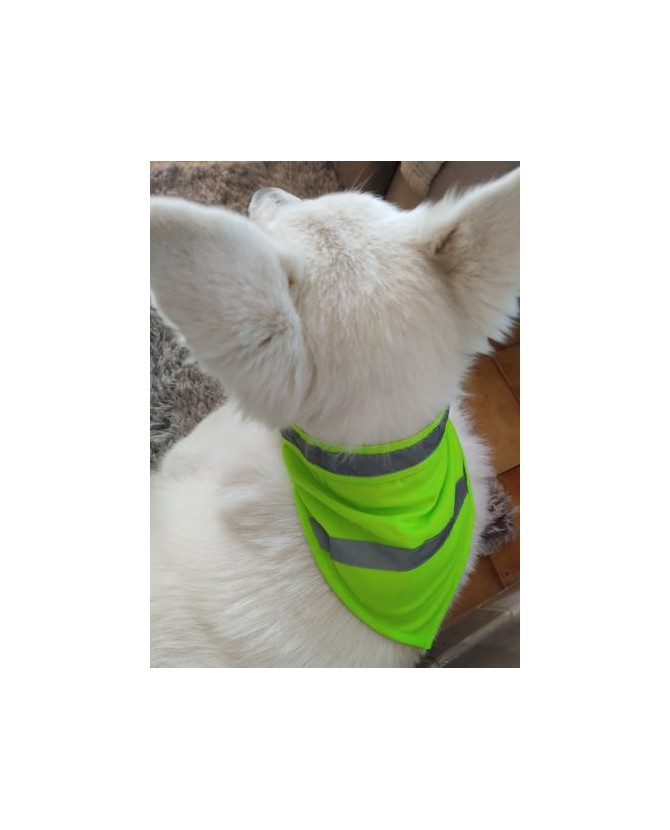 Gilet fluorescent pour chien Bandana jaune fluorescent de sécurité pour chien - TM Mutli-marques 9,00€
