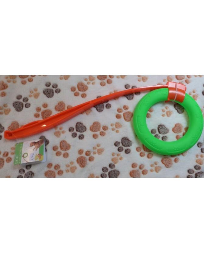 jouets canins mous Lance anneau vert  6,50€