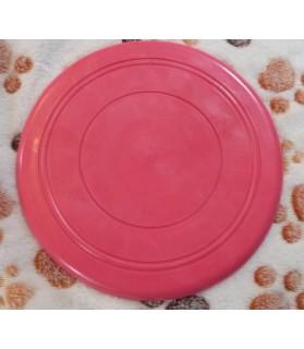 jouets canins mous jouet chien - Frisbee souple rose  6,00€
