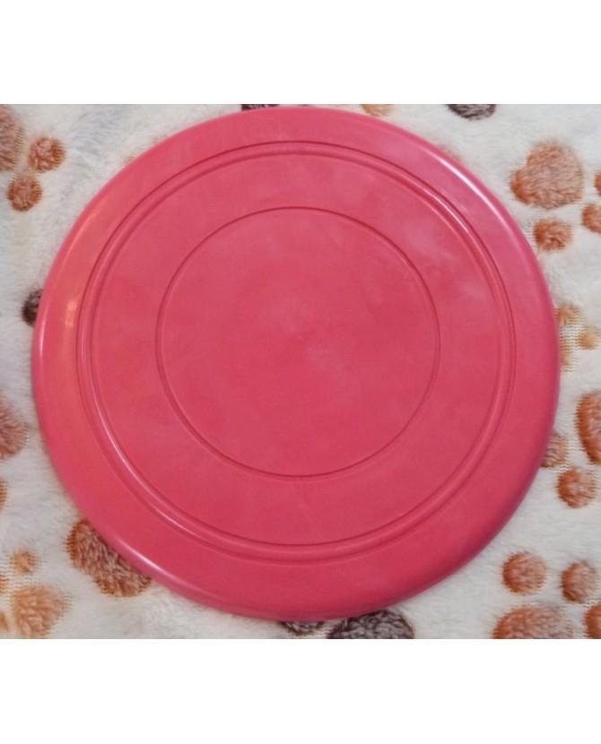 jouets canins mous Frisbee souple rose  6,00€