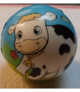 jouets canins mous jouet chien - balle souple motif vache  6,00€