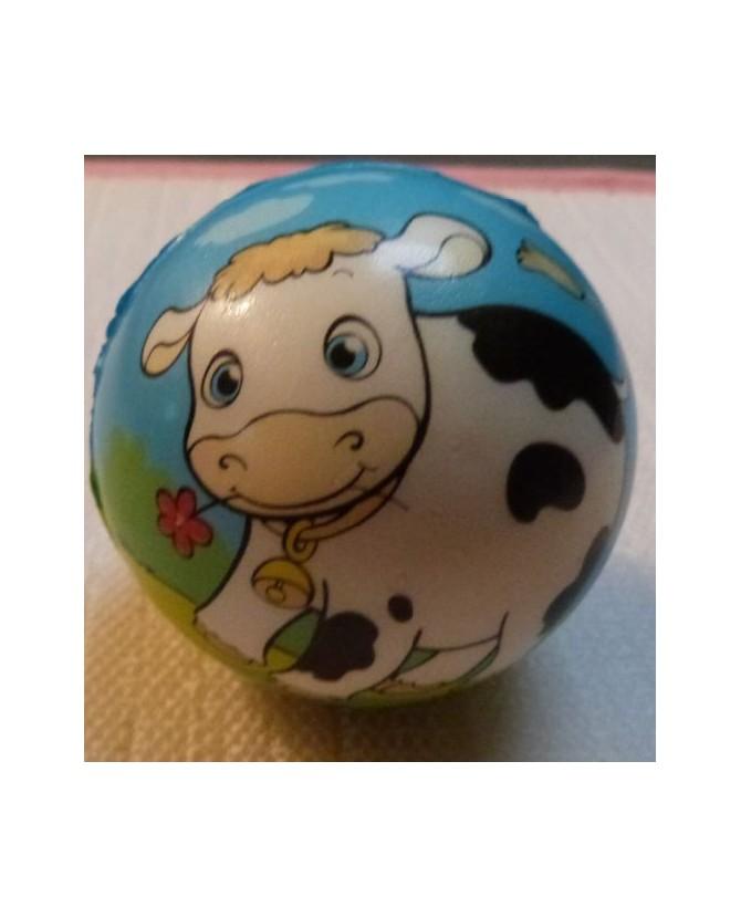 jouets canins mous balle souple motif vache  6,00€