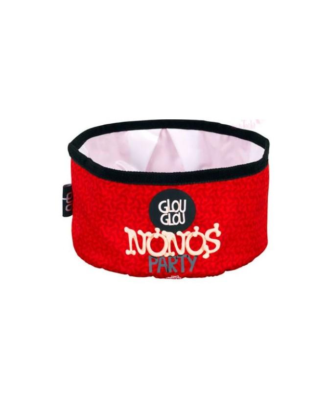 Gamelles promenade canine Bol Nonos party rouge  5,00€