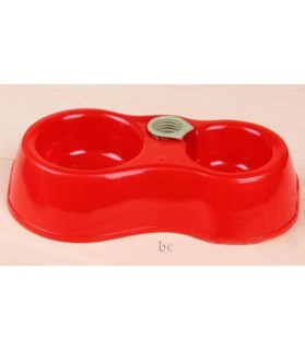 Gamelles plastiques pour chien ou chiot Gamelle Double avec distributeur d'Eau  8,00€