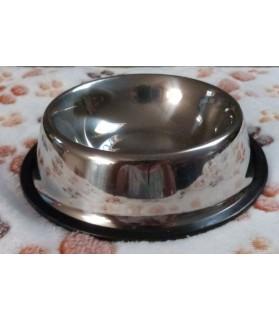 Gamelles Inox pour chien ou chiot Gamelle Inox avec anti-dérapant - T 11 cm  3,00€