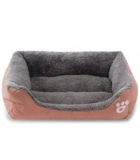 Coussins pour chien ou chiot couchage chien - Coussin reversible et confortable marron  31,00€