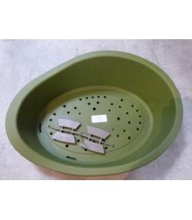 Paniers pour chien ou chiot Panier chien vert foncé en plastique 50 - 35 x 16  7,00€