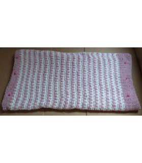 Couchages chat couchage chat - Coussin pour chat rose et blanc Perlette Chez Anilou 26,00€