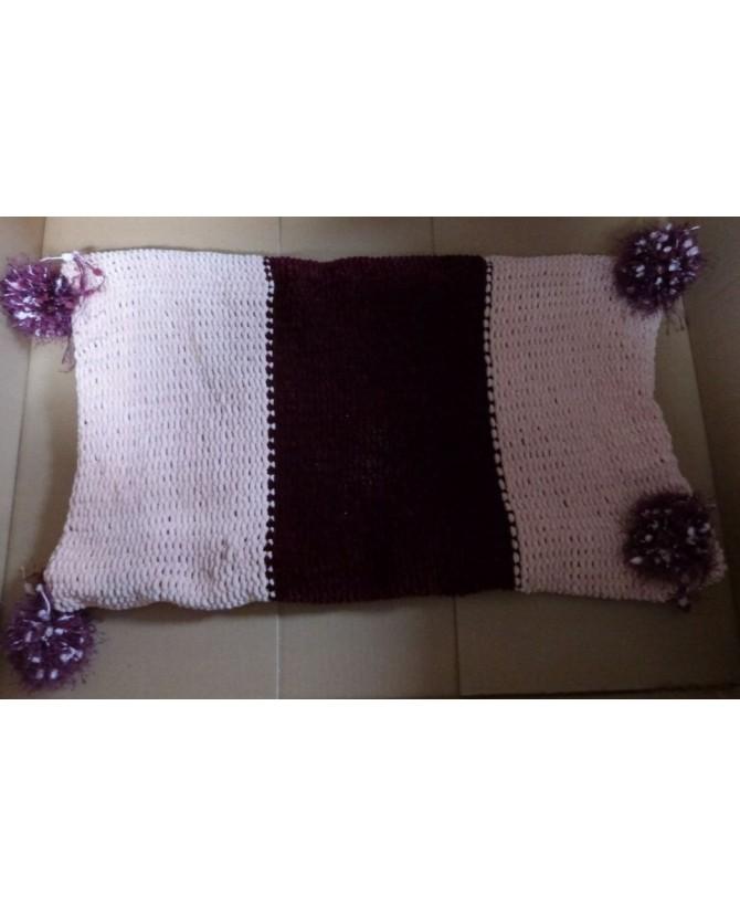 couvertures pour chat couchage chat - couverture pour chat rose et bordeaux Borganti Chez Anilou 32,00€
