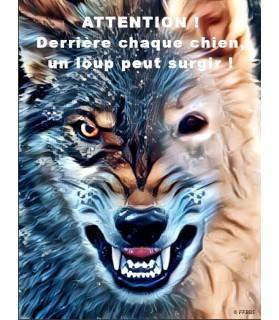Berger blanc suisse Pancarte chien de garde 5PB Chez Anilou 15,00€