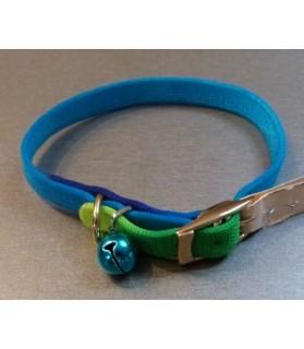 laisses colliers et harnais Collier chat arc-en ciel bleu-vert  3,50€