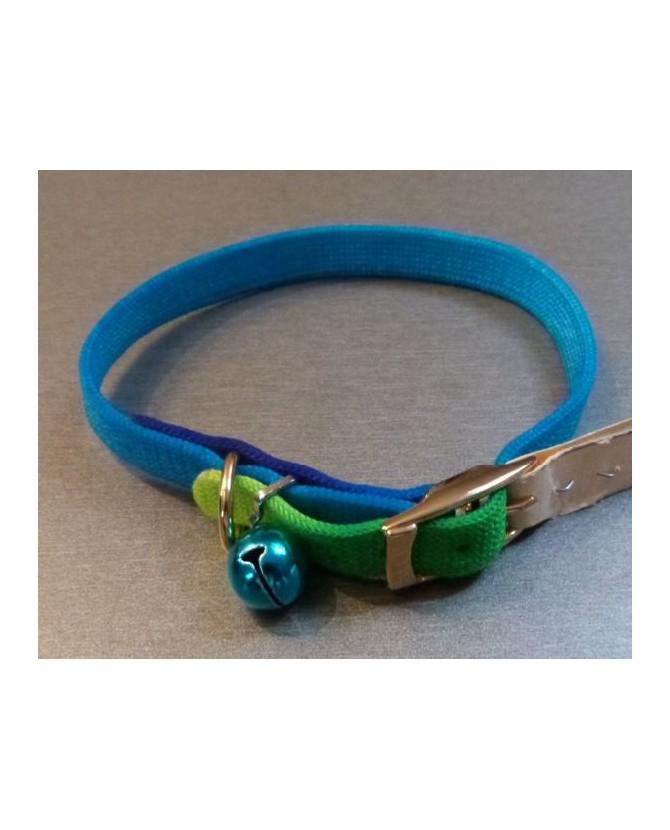 Colliers nylon Collier arc-en ciel bleu-vert  3,50€