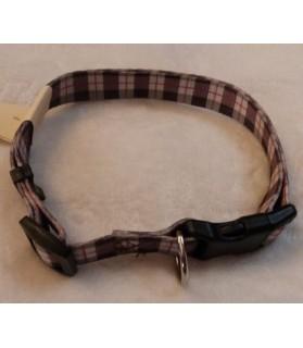 Colliers nylon Collier chien style Ecossais réglable 40/67 cm  8,00€
