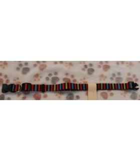 Colliers nylon Collier chien Rayé Multicolor ChezAnilou Chez Anilou 8,00€