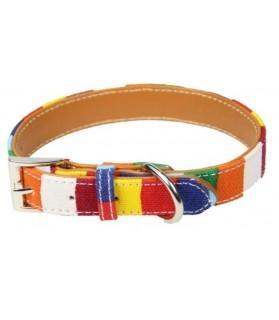 Colliers simili et cuir Collier chien rayé multicolor avec boucle  11,00€