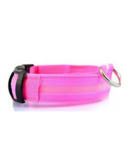 Colliers LED Collier chien Led rose  9,00€