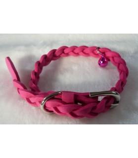 Colliers tressés Collier tresse rose pour chien Chez Anilou 11,00€